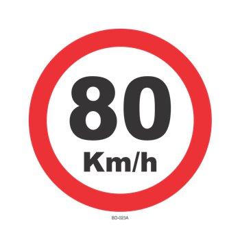 Adesivo Velocidade 80 KM