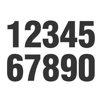Adesivo Número